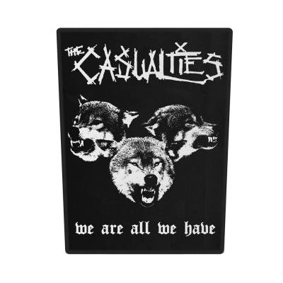 the-casualties - We Are All We Have Back Patch