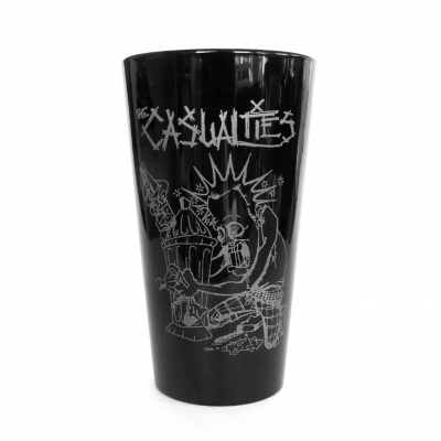 the-casualties - Logo Pint Cup (Black)