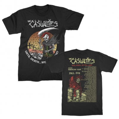 the-casualties - Until Death Tour Tee (Black)