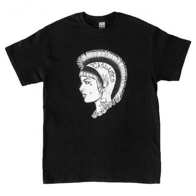 Mohawk Girl Tee (Black)