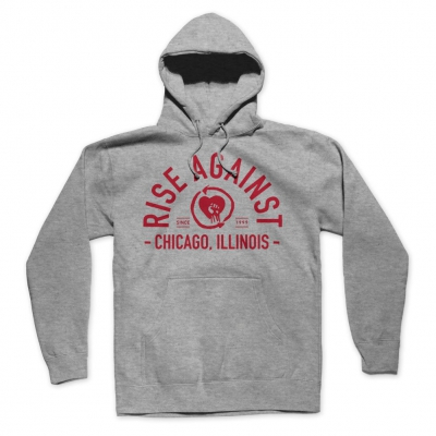 rise-against - Classic Arch Hoodie (Grey)
