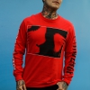 IMAGE | Love Is Not Enough Long Sleeve (Red) - detail 2