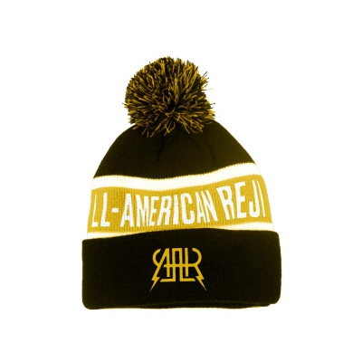 the-all-american-rejects - Logo Pom Beanie (Black/Yellow)