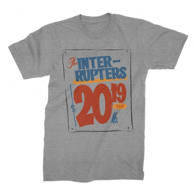 the-interrupters - Grocery Sign 2019 Tour T-Shirt (Heather Gray)