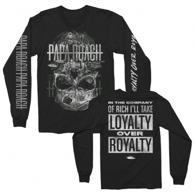 papa-roach - Skull Loyalty Long Sleeve (Black)