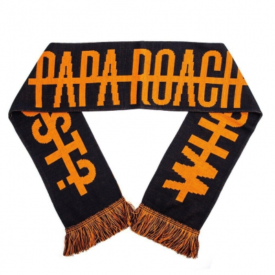 papa-roach - WDYT Logo Scarf (Black/Orange)