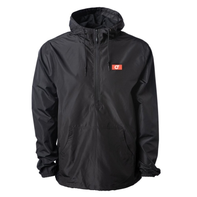 com-truise - CT Logo Windbreaker Anorak Jacket (Black)