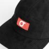 IMAGE   CT Logo Suede Hat (Black) - detail 2