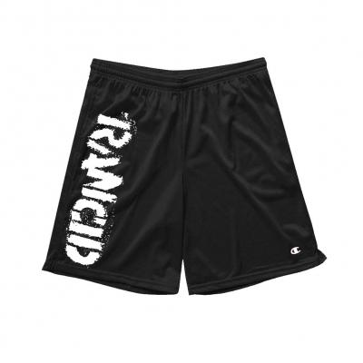 IMAGE | Stencil Logo Champion Shorts (Black)