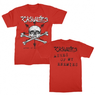 the-casualties - Ashes of My Enemies Tee (Red)