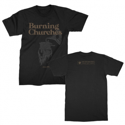 Burning Churches T-Shirt (Black)