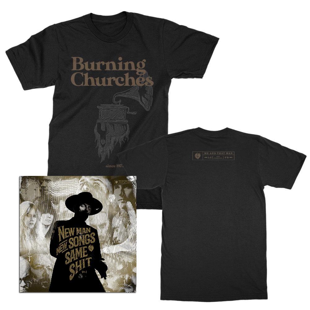 NMNSSS Vol. 1 CD + Burning Churches T-Shirt (Black) Bundle