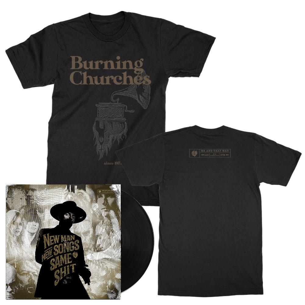 NMNSSS Vol. 1 LP (Black) + Burning Churches Tee (Black) Bundle