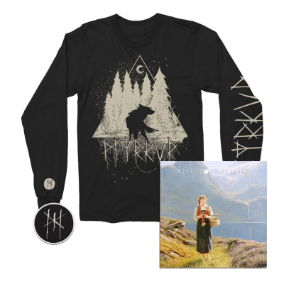 myrkur - Wolf Forrest Long Sleeve (Black) + CD + Patch Bundle