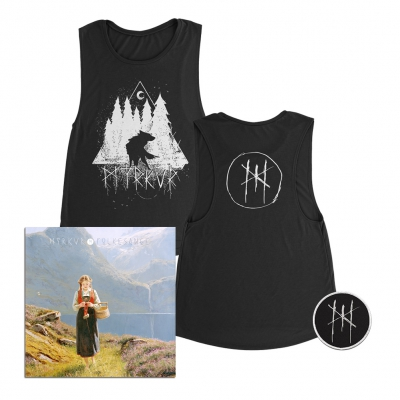 myrkur - Wolf Forrest Women's Tank (Black) + CD + Patch Bundle