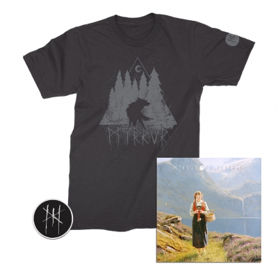 myrkur - Wolf Forrest Tee (Black) + CD + Patch Bundle