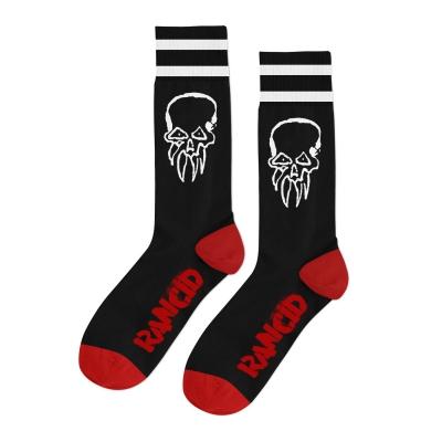 rancid - Life Won't Wait Socks (Black/White/Red)