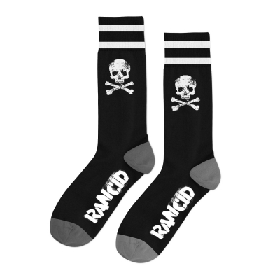 rancid - D-Skull Socks (Black/White/Grey)