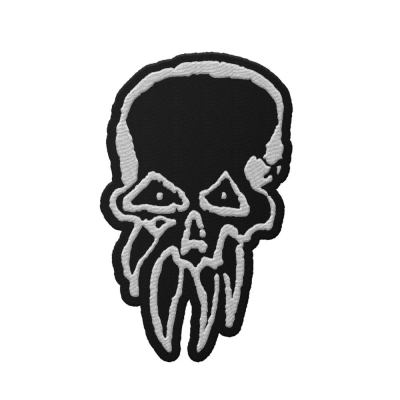 rancid - LWW Skull Die Cut Patch (Black)
