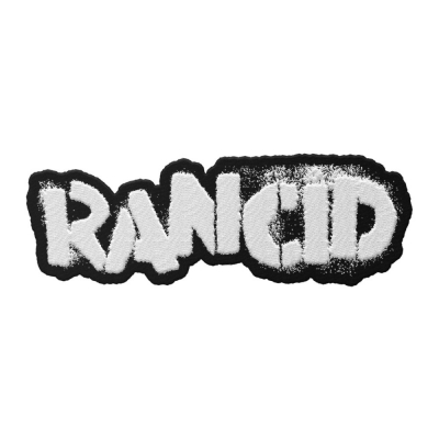 rancid - Stencil Logo Die Cut Patch (White)