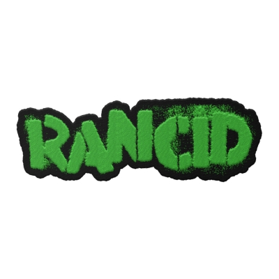 rancid - Stencil Logo Die Cut Patch (Neon Green)