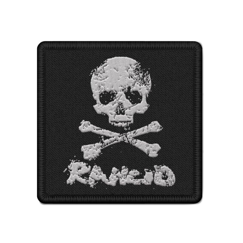 D-Skull Woven Patch (Black)