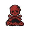 IMAGE | D-Skull Die Cut Patch (Red) - detail 1