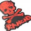 IMAGE | D-Skull Die Cut Patch (Red) - detail 2