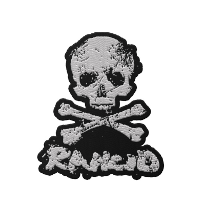 rancid - D-Skull Die Cut Patch (White)