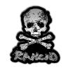 IMAGE   D-Skull Enamel Pin - detail 1