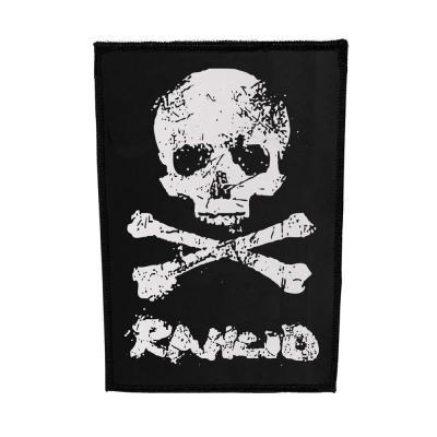 rancid - D-Skull Canvas Back Patch