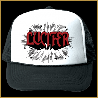 Lucifer - Rush Trucker Hat (Wht/Blk)