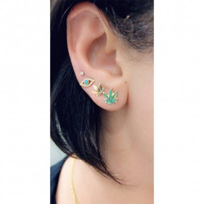 Cannabis Earrings (Pair)