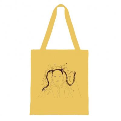 anti-records - Girl Tote Bag (Yellow)