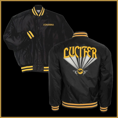 lucifer - Custom World Tour Satin Jacket (Black)