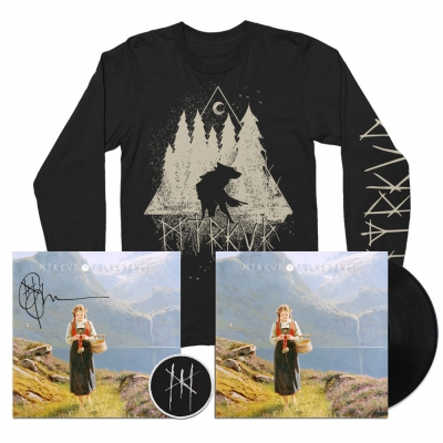 myrkur - Wolf Forrest Long Sleeve (Black) + LP (Black) + Litho + Patch Bundle