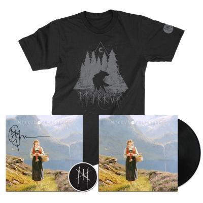 myrkur - Wolf Forrest Tee (Black) + LP (Black) + Litho + Patch Bundle