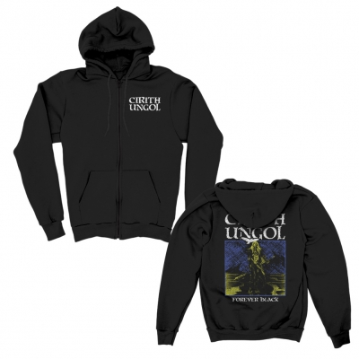 cirith-ungol - Forever Black Zip-Up Hoodie (Black)