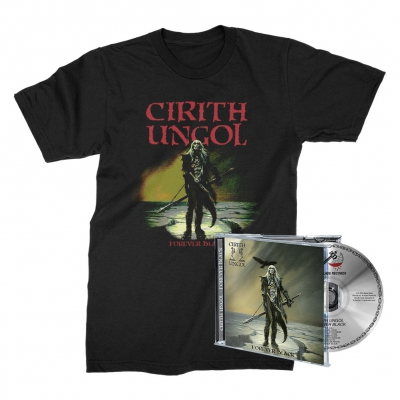 cirith-ungol - Forever Black Tee (Black) + CD Bundle