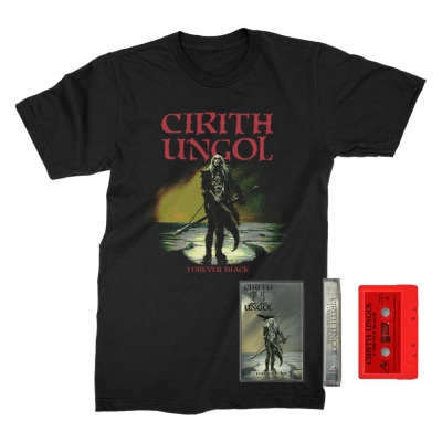 cirith-ungol - Forever Black Cassette (Red) + Tee (Black) Bundle