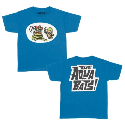 the-aquabats - Weedy Vs The Bat Commander Youth Tee (Sapphire)