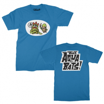 the-aquabats - Weedy Vs The Bat Commander Tee (Sapphire)