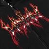 IMAGE   Fire Logo Zip Up Hoodie (Black) - detail 3