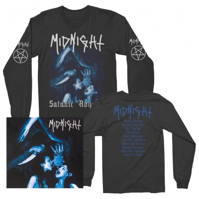 midnight - Satantic Royalty CD + Long Sleeve T-Shirt Bundle