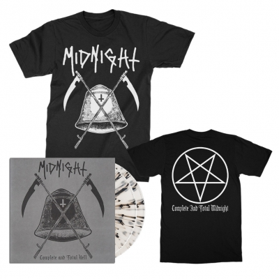 midnight - Complete And Total Hell 2xLP (Clear) + T-Shirt Bundle
