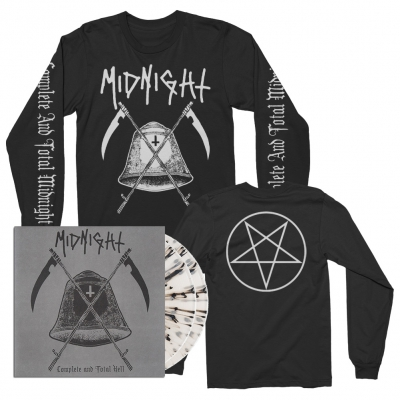 midnight - Complete And Total Hell 2xLP (Clear) + Long Sleeve T-Shirt Bundle