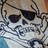 IMAGE   Irish Jolly Roger Blanket - detail 4