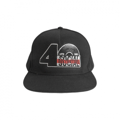 social-distortion - 40th Anniversary Logo Snapback Hat (Black)