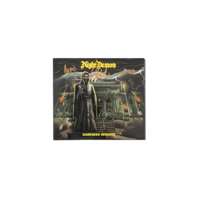 night-demon - Night Demon - Darkness Remains Autographed CD