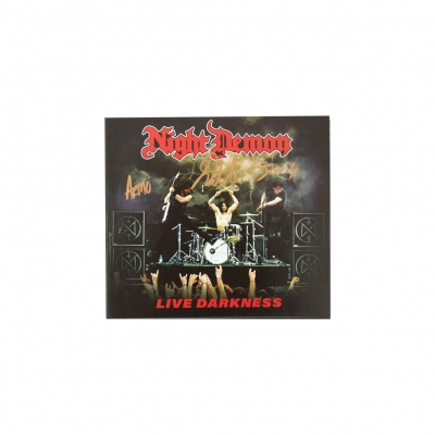 night-demon - Live Darkness Autographed 2xCD